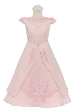 Girl Wedding Pageant  Recital Graduation Formal Party Dress 6 8 10 12 14 16 Pink