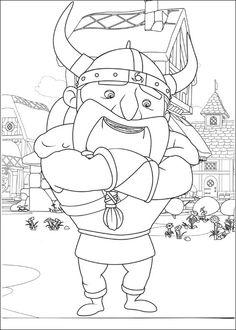 Mike de Ridder Kleurplaten voor kinderen. Kleurplaat en afdrukken tekenen nº 3