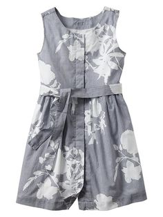 Floral stripe belted dress Product Image