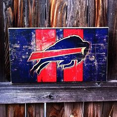 Buffalo Bills Team Logo Wooden Wall Hanging by MegAndMosClubhouse on Etsy https://www.etsy.com/listing/220595214/buffalo-bills-team-logo-wooden-wall
