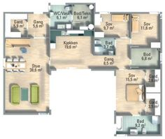 """""""Høvik 2"""" fra Systemhus Walk In Closet, Master Bedroom, Two By Two, How To Remove, Floor Plans, Closets, House, Inspiration, Ideas"""