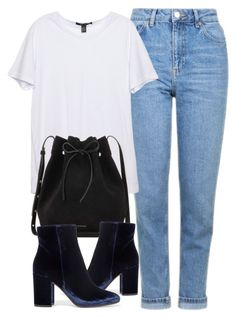 """Untitled #6030"" by laurenmboot ❤ liked on Polyvore featuring Topshop, Mansur Gavriel and Gianvito Rossi"
