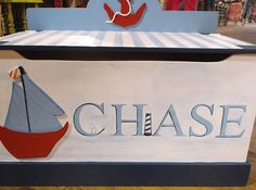 NAUTICAL SailboatsToychest Toy Box  Toy Storage by OurLittleMan, $195.00
