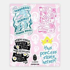 Cute+Feminism+Stickers