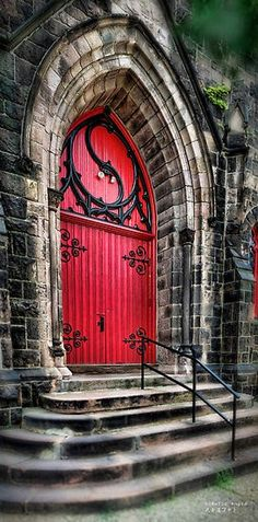 When a church has a red door, this means that church is over 100 years old. This is one of several different explanations.
