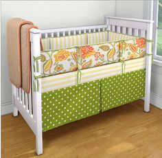 custom fabric for crib, LOVE the colors (to design your own http://www.babybedding.com/custom)