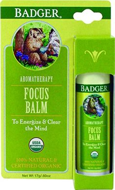 Badger Focus Balm Clear Mind  60 oz Stick >>> Check out the image by visiting the link.
