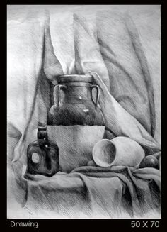 Still Life Sketch, Still Life Drawing, Still Life Art, Pencil Sketch Drawing, Pencil Art Drawings, Art Drawings Sketches, Funny Drawings, Realistic Drawings, Still Life Pencil Shading