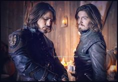 D'Artagnan and Athos. The Musketeers Credit to loveel-who on tumblr