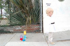 My Toddler Luke Skywalker DIY Costume for under $20: Sewed a Karate Gi, found tan pants (Kids Resale Store), shoes (WalMart), and a belt (Goodwill). Not pictured, pool noodle light saber. Halloween is going to be so much fun! www.Oopsibaby.net
