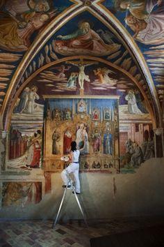 steve mc curry: chiesa di san francesco a montefalco