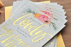 lovely little details holiday card by julie song ink