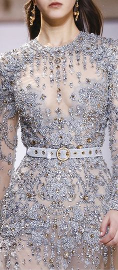 "notordinaryfashion: ""Elie Saab S/S 2017 Haute Couture "" Couture Fashion, Runway Fashion, Fashion Models, Fashion Show, Fashion Outfits, Ladies Fashion, Fashion Fashion, Elie Saab Couture, Jw Moda"