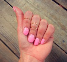 Knuckle Rings Gold Chevron Set of 3 Adjustable by PricklyHearts