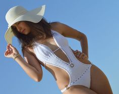 Sexy white swimsuit white crochet monokini by SexyCrochetByOlga, €80.00