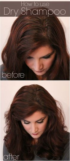 How to use dry shampoo: before and after
