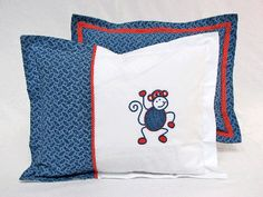Pillow Set by Banini Shweshwe and Cotton Percale Coordinating Duvet Cover available Baby Bedding, Linen Bedding, Sewing Projects, Projects To Try, Bedding Inspiration, African Children, Leather Crafts, Pillow Set, Aprons
