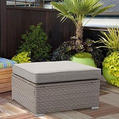 Amazon.com: outdoor ottoman Outdoor Furniture, Outdoor Decor, Garden Ideas, Ottoman, Amazon, Home Decor, Couches, Homemade Home Decor, Riding Habit