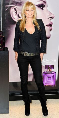 Who made  Kate Moss' black skinny jeans and jacket that she wore at the Boots store in London?  I tried this but didn't have the right jacket. Outfitidentifier.com