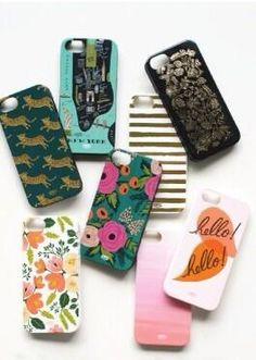 Very sweet iphone cases from Rifle Paper co. for Mother's Day