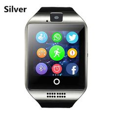 Q18 Smartwatch Bluetooth Smart Wrist Watch With Camera Touch Screen Smart watch Sleep Monitor TF SIM Card for Android IOS Phone