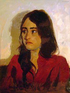 Oil portrait by Frank Stockton.