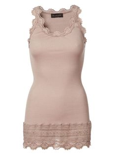 The Rosemunde Benita Wide vintage lace vest in Light Grey is a Feminine tube knitted top in soft silk mix with round neck. It is designed with a Lace Silk, Silk Top, Lace Vest, Basic Tops, Everyday Look, Vintage Lace, I Dress, T Shirts, Cardigans