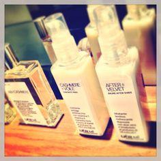 """#UERMI (dites """"wear me"""") la gamme exclusive de #parfums et #fragrances #cashmere #denim #velvet en eau de parfum et en #beaume pour les mains - on ly @cachemirecotonsoie #ccs - #wearme"""
