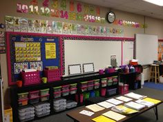 Classroom Themes Third Grade | The front of my classroom. The numbers are from Amy Lemons .