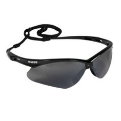 These Black Nemesis safety glasses are cool, sporty and lightweight, Polycarbonate with a nice lens tint and smoke mirror on the outside.