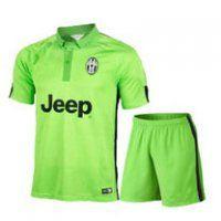 Juventus 2014-15 season Away Green Jersey Shirt Kit(Shirt+Short)