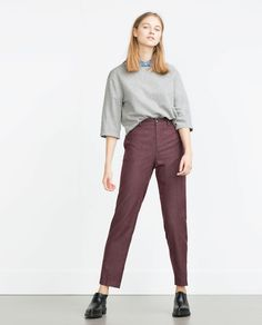 Image 1 of PINSTRIPE TROUSERS from Zara