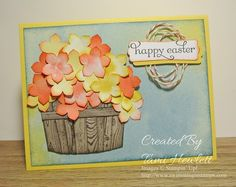 A Barrel of Flowers for Easter by tamihewlett - Cards and Paper Crafts at Splitcoaststampers