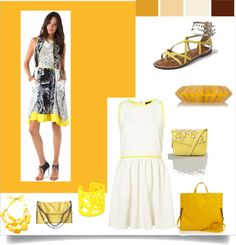 """Yellow"" by divineshape on Polyvore"