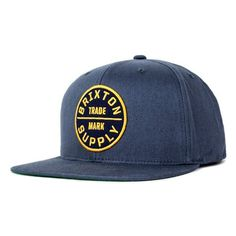 Brixton Oath III Men s Snapback Hat in Washed Navy. Six panel snapback ball  cap with a custom Brixton patch. 7e5c853e2416