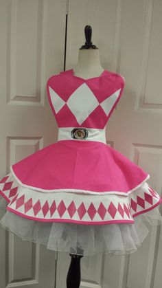 Pink Power Ranger Retro Cosplay Apron by PandorasProductions