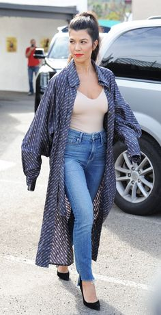 We Are Totally Stealing Kourtney Kardashian's Outfit for Valentine's Day via @WhoWhatWear