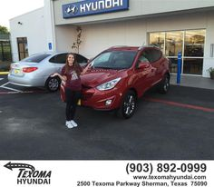 https://flic.kr/p/GGDmxq | Congratulations Elizabeth on your #Hyundai #Tucson from Ric Metcalf at Texoma Hyundai! | deliverymaxx.com/DealerReviews.aspx?DealerCode=L967