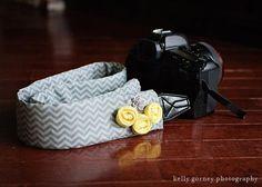 DSLR Camera Strap Cover Gray Chevron with by BellaOliviaTutus, $24.00