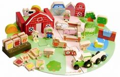 53pcs Organic Farm Set with Bag – EverEarth | Boutique Online Children's Store - Baby and kids clothes, swimwear, toys and more