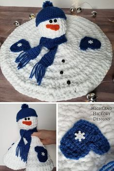 Crochet Baby Design Melted Snowman - Highland Hickory Designs - Free Crochet Pattern - Crochet the Melted Snowman that can be a child's lovey (don't use buttons), winter decoration or holiday gift! Quick, easy and free pattern. Crochet Toys, Crochet Baby, Free Crochet, Crochet Patterns Free Easy Quick, Crochet Lovey Free Pattern, Quick Crochet Gifts, Crochet Christmas Decorations, Crochet Decoration, Crochet Christmas Gifts