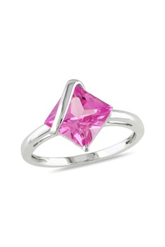 10K White Gold And Pink Sapphire Ring. This will be great for valentines day