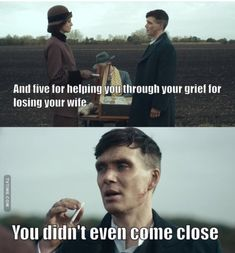 You didn't even come close. Peaky Blinders Series, Peaky Blinders Thomas, Peaky Blinders Quotes, Cillian Murphy Peaky Blinders, Music Note Logo, Shelby Brothers, Joe Cole, Gangster Quotes, Therapy Quotes