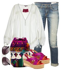 Boho by juliehooper on Polyvore featuring polyvore, fashion, style, Calypso St. Barth, rag & bone, Lanvin, Stela 9 and Vince Camuto