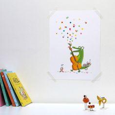 Affiche Jazzy (30 x 40 cm) : Série-Golo - Berceau Magique