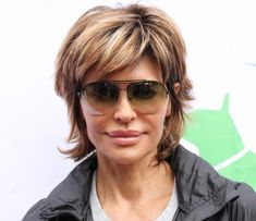The Best Short Haircuts for Women Over 50: Lisa Rinna's Shag Hairstyle