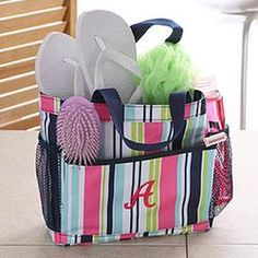 shower caddy dorm gift idea dorm shower caddy striped
