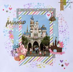 Simple Stories Enchanted - Disney Princess Layout.