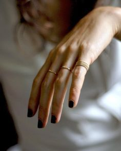 dainty gold rings #style