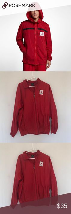 cc24ecf9cca3 Red Jordan flight jacket Men s red Jordan jacket in great condition! Feel  free to reach out with any questions!